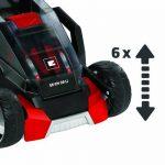 Einhell Tondeuse à gazon sans fil GE-CM 36 Li Power X-Change (Li-lon, 2 x 18 V / 2 x 3,0 Ah, Régime 3.000 trs/min, Largeur de coupe 36 cm, Hauteur de coupe 6 positions (25-75 mm), Bac de ramassage rigide de 40 l) de la marque Einhell image 4 produit