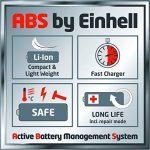 Einhell Tondeuse sans fil GE-CM 43 Li M kit Power X-Change (Li-lon, 18 V, largeur de coupe de 43 cm, réglage de la hauteur de coupe de 25 à 75 mm, 6 positions, volume du bac de collecte 63 l, y compris 2 batteries de 4.0 Ah et 2 chargeurs) de la marque Ei image 2 produit