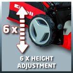 Einhell Tondeuse thermique GC-PM 47 S HW (1.8 kW,Réservoir carburant 1.200 ml ,Largeur de coupe 47 cm, Hauteur de coupe 6 positions (25-70 mm), Bac de ramassage de 75 l + 2 poignées pour la vidange,Fonction Mulching 5 en 1) de la marque Einhell image 6 produit