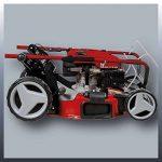 Einhell Tondeuse thermique GC-PM 47 S HW (1.8 kW,Réservoir carburant 1.200 ml ,Largeur de coupe 47 cm, Hauteur de coupe 6 positions (25-70 mm), Bac de ramassage de 75 l + 2 poignées pour la vidange,Fonction Mulching 5 en 1) de la marque Einhell image 1 produit