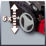 Einhell Tondeuse thermique GC-PM 51/2 HW-E (2.7 kW, Réservoir carburant 1.500 ml, Démarrage électrique (Fonction E-Start),Largeur de coupe 51 cm, hauteur de coupe 6 positions (30-80 mm),Bac de ramassage de 70 l, Fonction Mulching) de la marque Einhell image 3 produit
