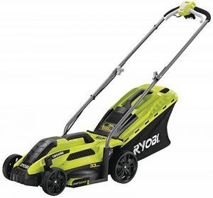 Ryobi 5133002343 Tondeuse à gazon électrique, 1300 W, Vert, largeur de coupe 33 cm de la marque Ryobi image 0 produit