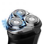 SweetLF Rasoir Electrique Homme Rechargeable Tondeuse Barbe IPX7 Etanche Technologie Wet&Dry Avec 3 Têtes Rotatives Ecran LCD Sans Fil, Bleu de la marque SweetLF image 1 produit